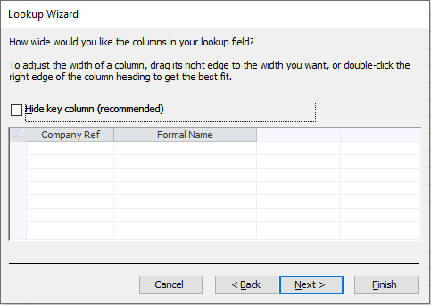 Microsoft Access: Adjusting the appearance of the fields in combo boxes.