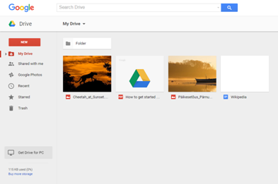 Google Drive gives you an online folder from which you can download your files onto any device