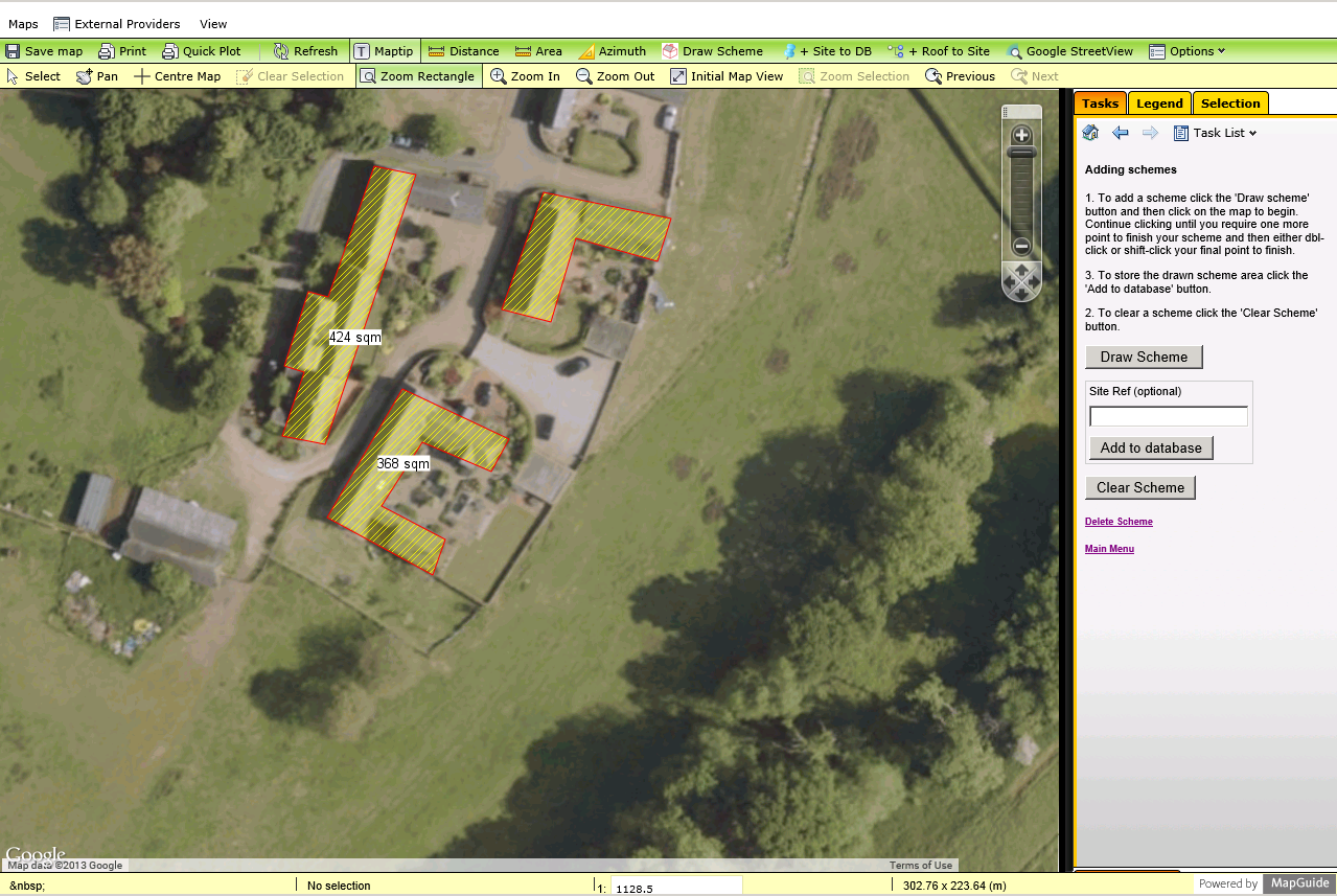 screenshot of solar project management GIS